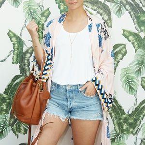 Forever 21 Contemporary Pink Kimono M/L